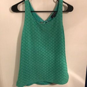 Green tank top from the Limited